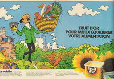 Publicité 1983  (Double page)  FRUIT D'OR  margarine au tournesol beurre