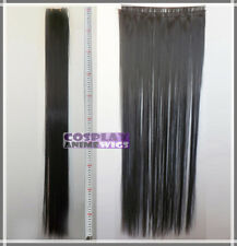 Black Hair Weft Extention (3 pieces) - 100cm High Temp - Cosplay 8_001