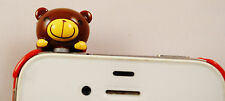 CHOCO TEDDY DARK BROWN CUTE TEDDY PHONE DUST PLUG