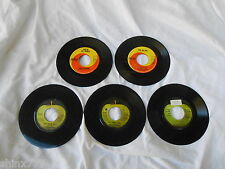 "5 7"" SINGLES-CILLA BLACK-MARY HOPKINS-BILLY PRESTON-BADFINGER-BEATLES-APPLE-RARE"