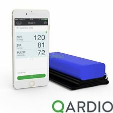 Qardio Arm Wireless Blood Pressure Monitor for iPhone iOS Android, Electric Blue