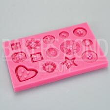 Multi Buttons Shape Silicone Mould Baking Bakeware Chocolate Cupcake Cake Topper