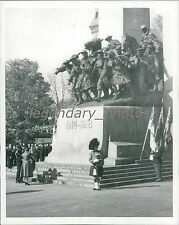 1951 Royal Guests at War Memorial in Ottawa Original News Service Photo