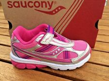 Saucony Girls Non -Tie Sneakers Pink/Silver NIB Little Girls Size 8 1/2 M