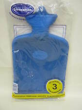 New Coronation Ribbed 1 Side Rubber Hot Water Bottle 2L 3 Year Guarantee Blue