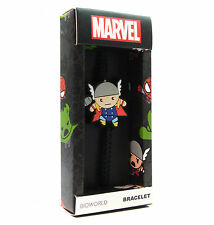Marvel Comics THOR KAWAII CORD BRACELET Rubber Chibi Charm Adjustable Avengers