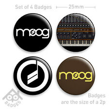 "MOOG Badges - Mini Modular Analogue Synth - 1"" Badge x4 Badges NEW"