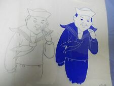 CRACKER JACK Production Pencil Drawing & Hand Painted Animation Cel 3A 22
