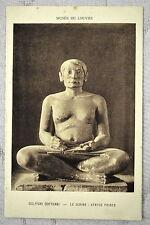 """CPA """" Musée du LOUVRE - Sculpture Egyptienne - Le Scribe - Statue peinte"""