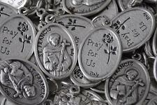 Catholic Italian St Francis 10 Medal Lot + Bonus Holy Cards - FREE SHIPPING