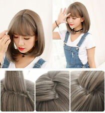 35CM Korean Lolita Cosplay Short Bob Wig Curly Wavy Synthetic Hair With Bangs