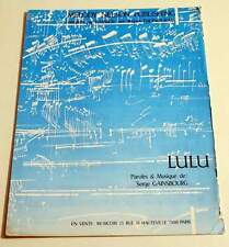 Partition sheet music SERGE GAINSBOURG / BAMBOU : Lulu * 80's