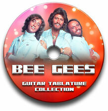 BEE GEES POP ROCK GUITAR TABS TABLATURE SONG BOOK SOFTWARE CD