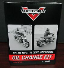 New Victory motorcycle Oil Change Kit for All 100 / 106 Cubic In Engines 2879600