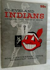 Vintage Baseball 1951 Official Team Yearbook CLEVELAND INDIANS Rare TRIBE