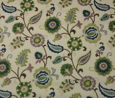 "BRAEMORE SELIM HEATHER Beige Jacobean Floral Multiuse Fabric BY THE YARD 54""W"