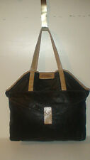 GIANFRANCO FERRE LARGE ALL LEATHER SHOPPER TOTE  LAP TOP BAG