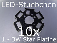 10x 1 - 3W High-Power LED Star-Platine