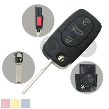 Flip Remote Key Shell 3 BTN with Panic for Audi A4 A6 A8 S4 TT Case Fob CR2032