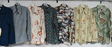 LOT OF 40 VINTAGE 70s SHIRTS DISCO PENNEYS POLYESTER RETRO ARROW