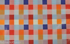 "1.4m/55"" ROUND pvc check  wipe clean wipeable oilcloth vinyl TABLE CLOTH CO"