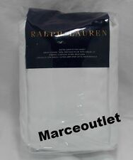 Ralph Lauren 624 Thread Count Cotton Sateen QUEEN Fitted Sheet Deco White