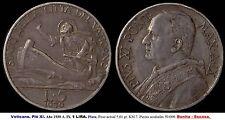 VATICANO. Año 1930 A. IX. Pió IX. 1 LIRA. Plata. Peso 5,01 gr. KM 7. BONITA.