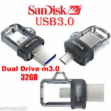 !!! NEW !!!  32GB SANDISK ULTRA DUAL M3.0 USB PEN DRIVE !!! NEW !!!