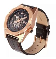 Rotary Men's Automatic Fusion Brown Leather Strap Skeleton Watch - GS03602/A/04.