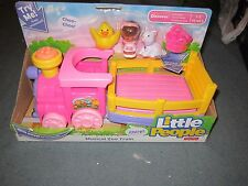 Fisher Price Little People Pink Musical Zoo Train Mia Chicken and Cat Set Toy