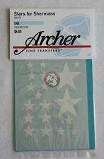 Archer 1/48 US Stars for Sherman Tank WWII (White) (enough for 2 tanks) AR48022W
