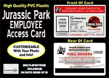 Jurassic Park Employee Access ID Badge / Card   CUSTOM WITH YOUR PHOTO & INFO