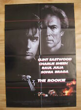 THE ROOKIE 1990 Orig movie poster Clint Eastwood Charlie Sheen crime police gun
