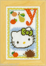 Vervaco  0149620  Kit Point de Croix Compté Alphabet © Hello Kitty - Lettre Y