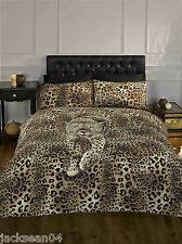 CLASSIC SINGLE SAFARI SERENGETI  LEOPARD COTTON DUVET QUILT COMFORTER COVER SET