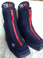 TOMMY HILFIGER, VINTAGE TH 85 BLUE NEOPRENE ZIP FRONT ANKLE BOOTS SZ 7M