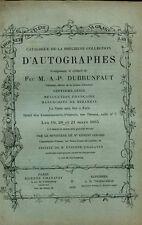CATALOGUE AUTOGRAPHES 19-20-21-3-1885 REVOLUTION FRANCAISE MIRABEAU BABEUF