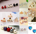 Fashion Pearl Crystal Rhinestone Gold/Silver Plated Earring Ear Stud Jewelry