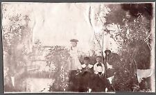 VINTAGE PENNSYLVANIA 1880'S-1890'S LABRADOR RETRIEVER DOG KIDS FASHION OLD PHOTO