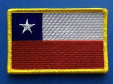 Chile Flag Iron On Biker Vest Collectable Backpack Hat Jacket Travel Patch