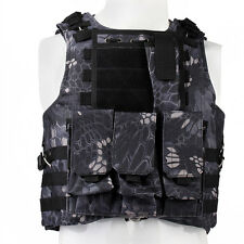 Tactical Vest Military USMC Police Airsoft Molle Combat Assault Plate Carrier