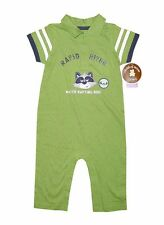 NEW! CHILD OF MINE BABY ROMPER/ JUMPSUIT (GREEN/NAVY, SIZE 12M)