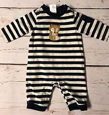 Baby Boy Gymboree Striped Fox 1-piece Outfit 0-3 Months