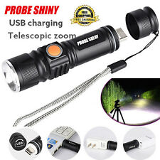 Zoom 3000LM 3 Mode USB Rechargeable LED Flashlight Torch Light Ultra Bright Lamp