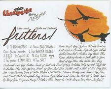 GEESE GOOSE TANGIER ISLAND OYSTER CRAB MEAT FRITTERS RECIPE CARD PRINT & 1 BREAD
