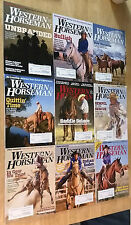 LOT of 9 WESTERN HORSEMAN Magazines HORSE Cowboys RODEOS Pony RANCHING