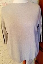 "NWT-MINT! TALBOTS Cashmere Pullover ""Audrey"" Sweater-Plus 2X-Pearl/Silver"