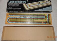 SURE LANE CRIBBAGE GAME SET Up To 6 Players Pressman 1983 100% COMPLETE!!