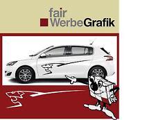 Aufkleber /  Sticker / Seitenbeschriftung / Dekor / Peugeot 208- 308 -/ #099
