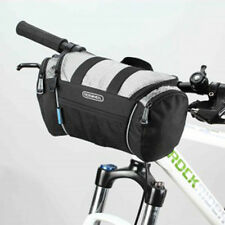 Cycling Bike Bicycle Front Pannier Basket Handlebar Bar Bag Quick Release Silver